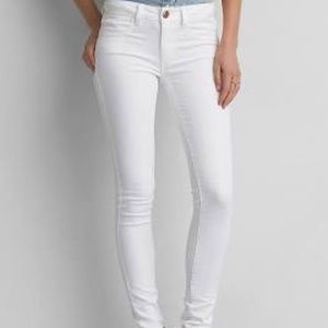 American Eagle Light Wash Skinny Stretch Jeans 2